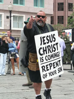 Or you can be like Ruben, he may Preach Anywhere and Anything -- He was a 2 Lady Ga Ga Concerts in Los Angeles -- www.officialstreetpreachers.com